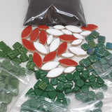 Mosaic Ornament Kit-Green Mix