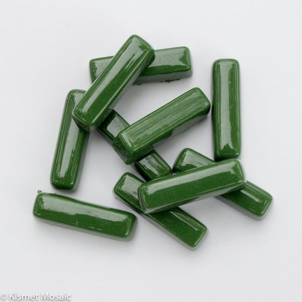 655-g Grass Green - Mini-Rectangles, MiniRectangle tile - Kismet Mosaic - mosaic supplies