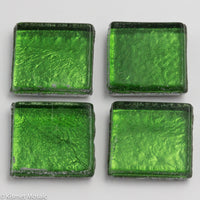 FL9 - Green, 15mmFoil tile - Kismet Mosaic - mosaic supplies