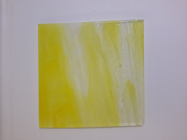 "Yellow Wispy Stained Glass 2"" cuts"