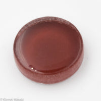 k492 - Bohemian Red, Krystal 15mm Round tile - Kismet Mosaic - mosaic supplies