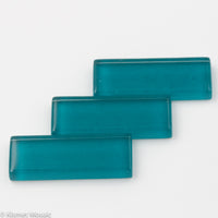 k552 - Teal, KrystalRectangle tile - Kismet Mosaic - mosaic supplies