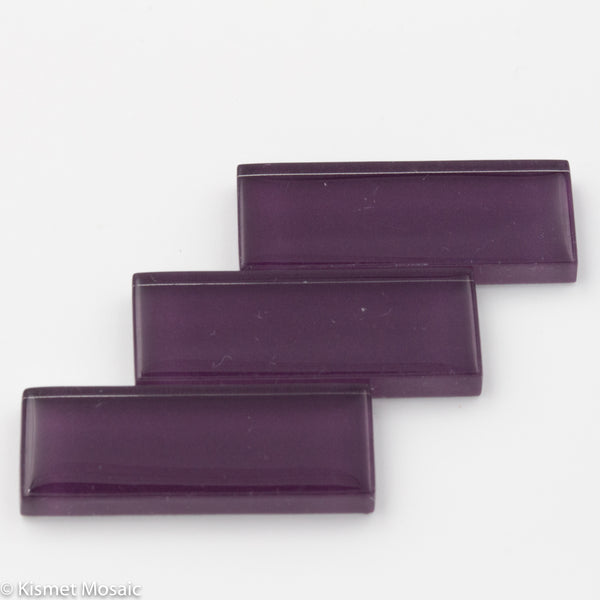 k585 - Purple, KrystalRectangle tile - Kismet Mosaic - mosaic supplies