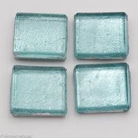 FL4 - Light Turquoise, 15mmFoil tile - Kismet Mosaic - mosaic supplies