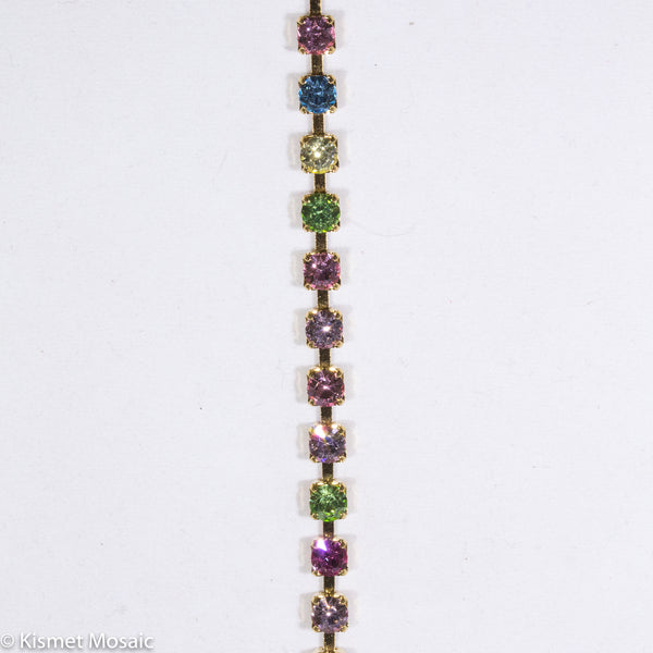Light Multi-Color, RhinestoneChain tile - Kismet Mosaic - mosaic supplies