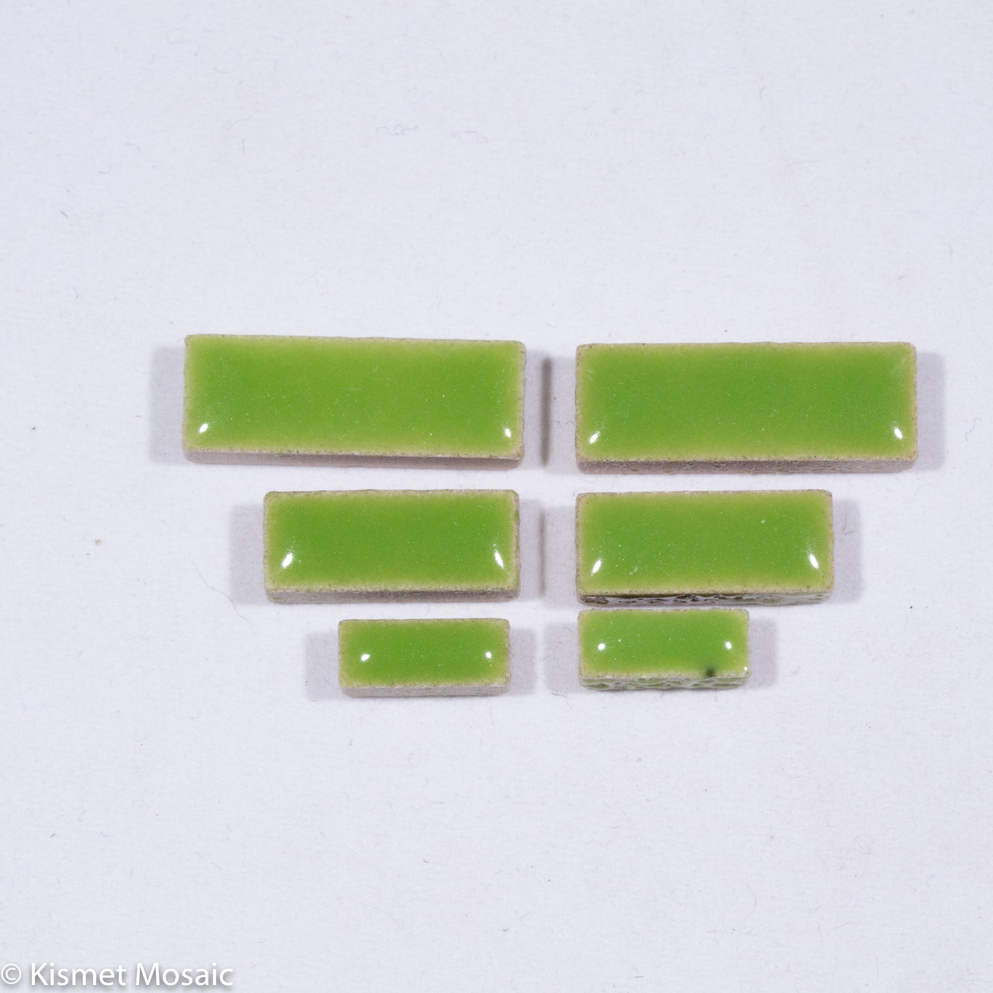 c-Lime Green Rectangles, CeramicRectangles tile - Kismet Mosaic - mosaic supplies
