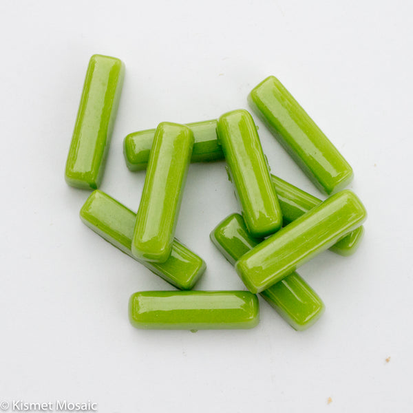 603-g Apple Green - Mini-Rectangles, MiniRectangle tile - Kismet Mosaic - mosaic supplies