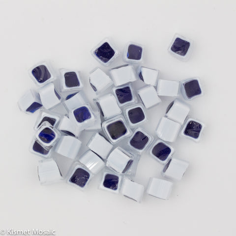 M18 - Blue/White Square (7-8mm)