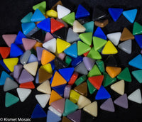 700-g Mixed Gloss Triangle, TriangleGloss tile - Kismet Mosaic - mosaic supplies