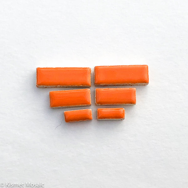 c-Orange Rectangles, CeramicRectangles tile - Kismet Mosaic - mosaic supplies