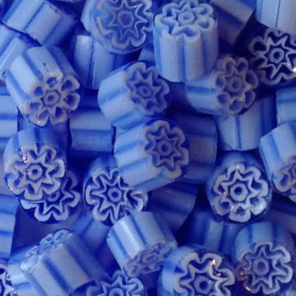 M02 - Periwinkle Flower (8-9mm), Millefiori tile - Kismet Mosaic - mosaic supplies