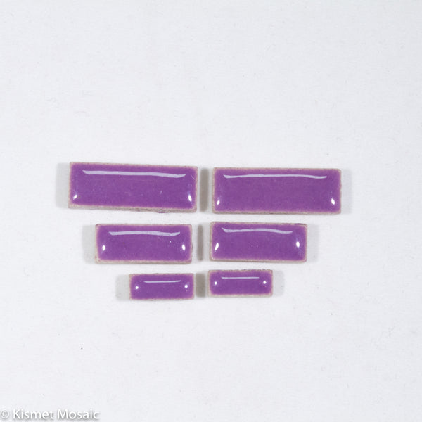 c-Purple Rectangles, CeramicRectangles tile - Kismet Mosaic - mosaic supplies
