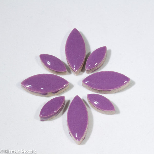 cp-Purple Ellipse/Petal, CeramicPetals tile - Kismet Mosaic - mosaic supplies
