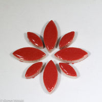 cp-Red Ellipse/Petal, CeramicPetals tile - Kismet Mosaic - mosaic supplies