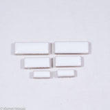 c-White Rectangles, CeramicRectangles tile - Kismet Mosaic - mosaic supplies