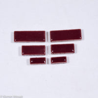 c-Wine Rectangles, CeramicRectangles tile - Kismet Mosaic - mosaic supplies