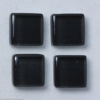 k107 - Charcoal, Krystal 10mm tile - Kismet Mosaic - mosaic supplies
