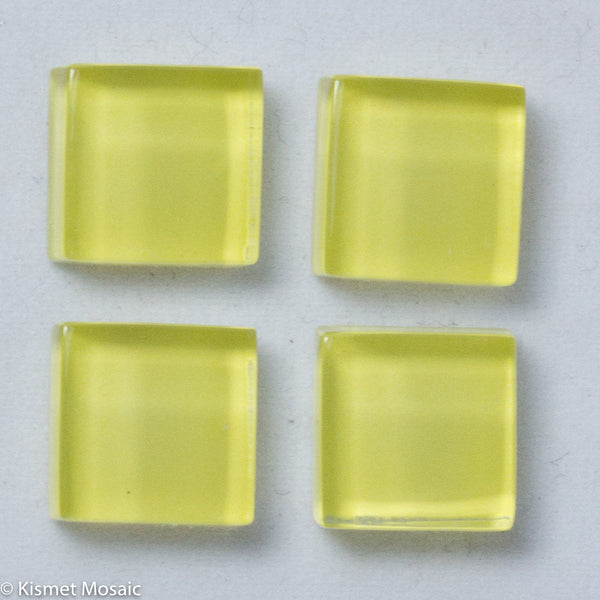 k110 - Pastel Yellow, Krystal 10mm tile - Kismet Mosaic - mosaic supplies