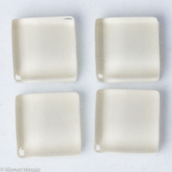 k120 - Ivory, Krystal 10mm tile - Kismet Mosaic - mosaic supplies