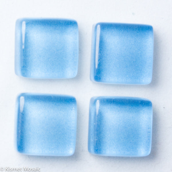 k163 - Cornflower Blue, Krystal 10mm tile - Kismet Mosaic - mosaic supplies