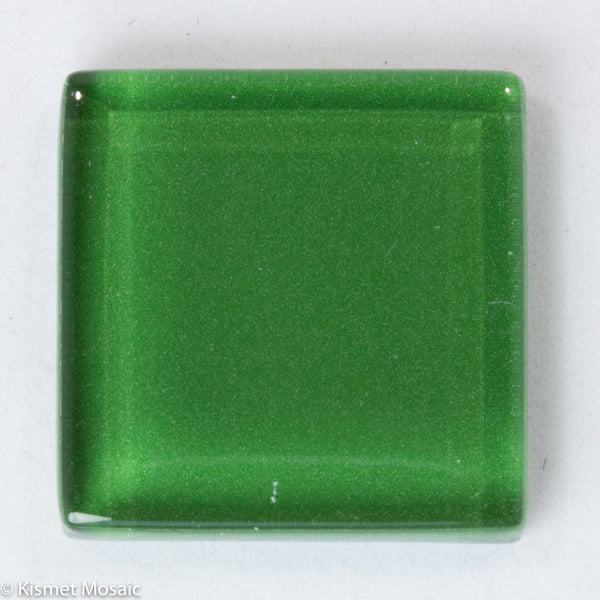 k231 - Amazon Green, Krystal 20mm tile - Kismet Mosaic - mosaic supplies