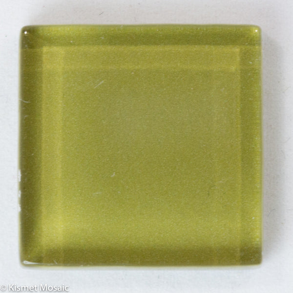 k233 - Olive, Krystal 20mm tile - Kismet Mosaic - mosaic supplies