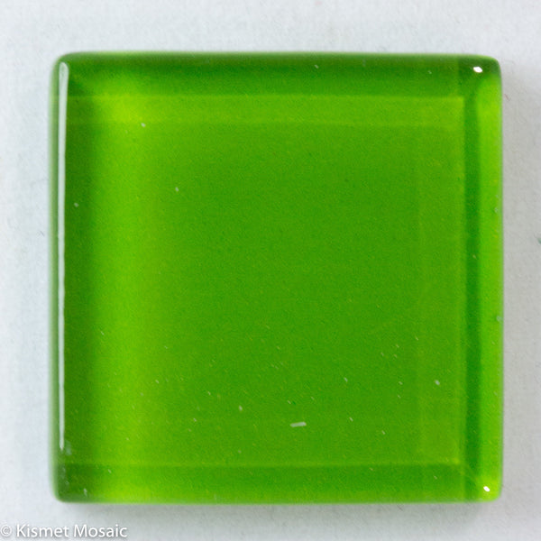 k237 - Lime, Krystal 20mm tile - Kismet Mosaic - mosaic supplies