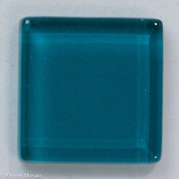 k252 - Teal, Krystal 20mm tile - Kismet Mosaic - mosaic supplies