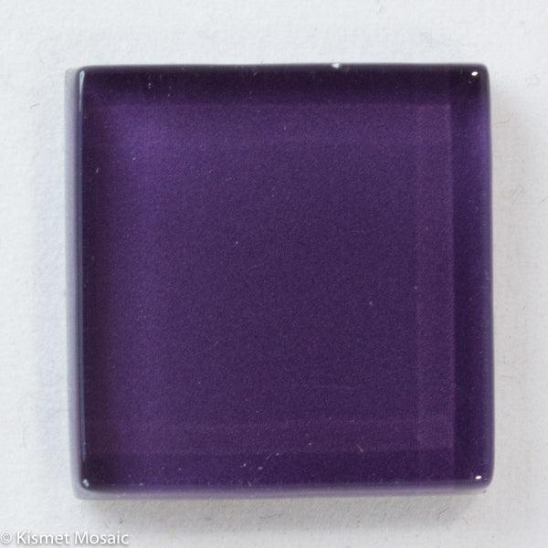 k286 - Plum, Krystal 20mm tile - Kismet Mosaic - mosaic supplies
