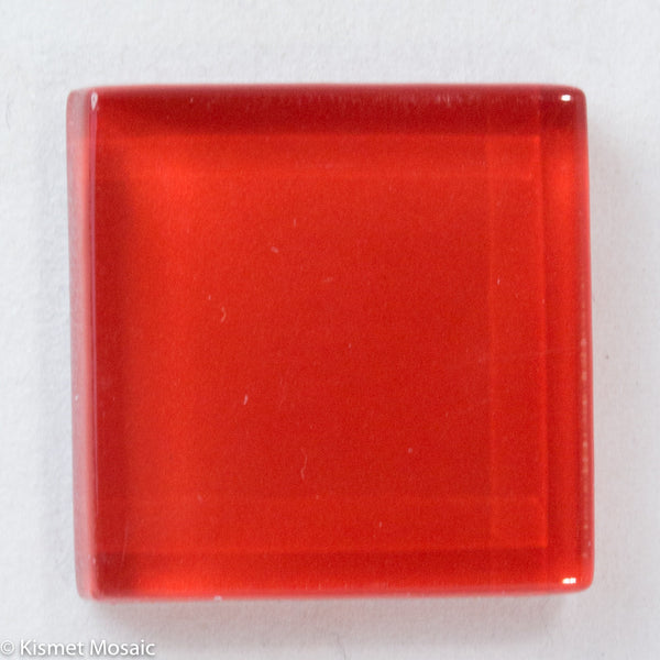 k291 - Red, Krystal 20mm tile - Kismet Mosaic - mosaic supplies