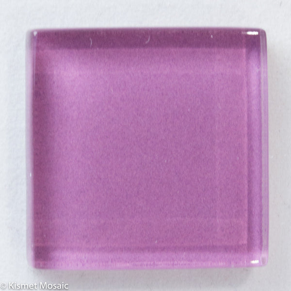 k295 - Mauve, Krystal 20mm tile - Kismet Mosaic - mosaic supplies