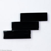 k508 - Black, KrystalRectangle tile - Kismet Mosaic - mosaic supplies