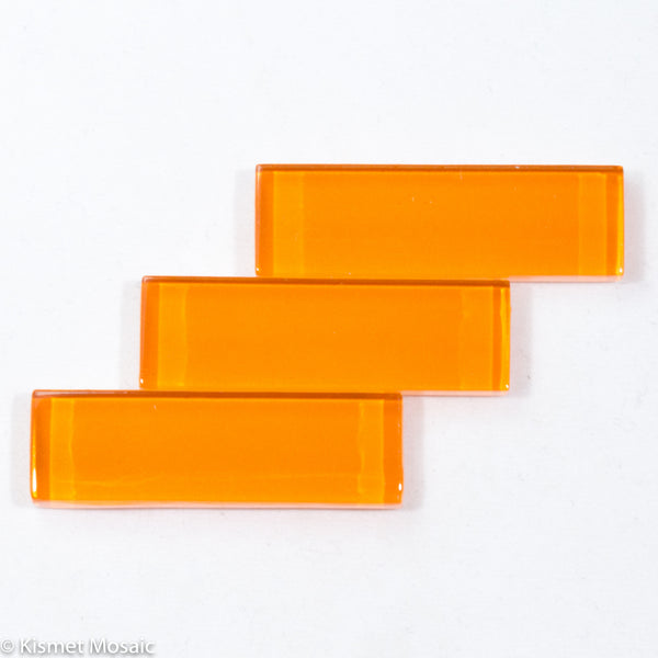 k518 - Orange, KrystalRectangle tile - Kismet Mosaic - mosaic supplies