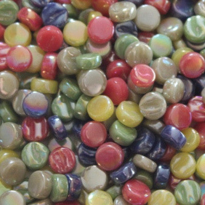 400-i Mixed Iridescent Mini Rounds, MiniRound-Assorted tile - Kismet Mosaic - mosaic supplies