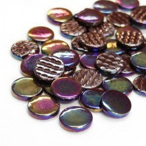 2100-i - Dark Chocolate - Iridescent Penny Rounds