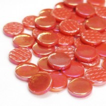 2106-i - Watermelon - Penny Rounds, PennyRoundIrid tile - Kismet Mosaic - mosaic supplies