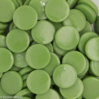 211-g - Lime Green - Gloss Penny Rounds, PennyRoundGloss tile - Kismet Mosaic - mosaic supplies