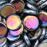 pr49i - Carbon Black - IridescentPennyRound - Kismet Mosaic - 1