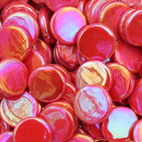 pr107i - Chili Red - IridescentPennyRound - Kismet Mosaic - 1