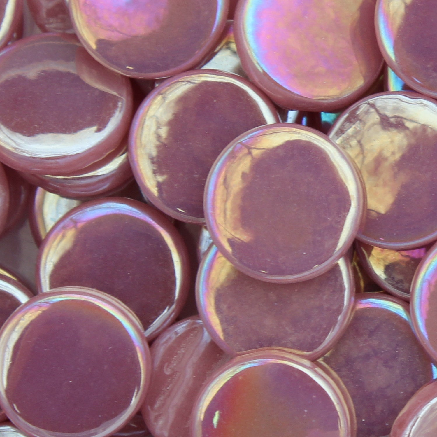 pr35i - Light Rose - IridescentPennyRound - Kismet Mosaic - 1