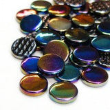 pr49i - Carbon Black - IridescentPennyRound - Kismet Mosaic - 2