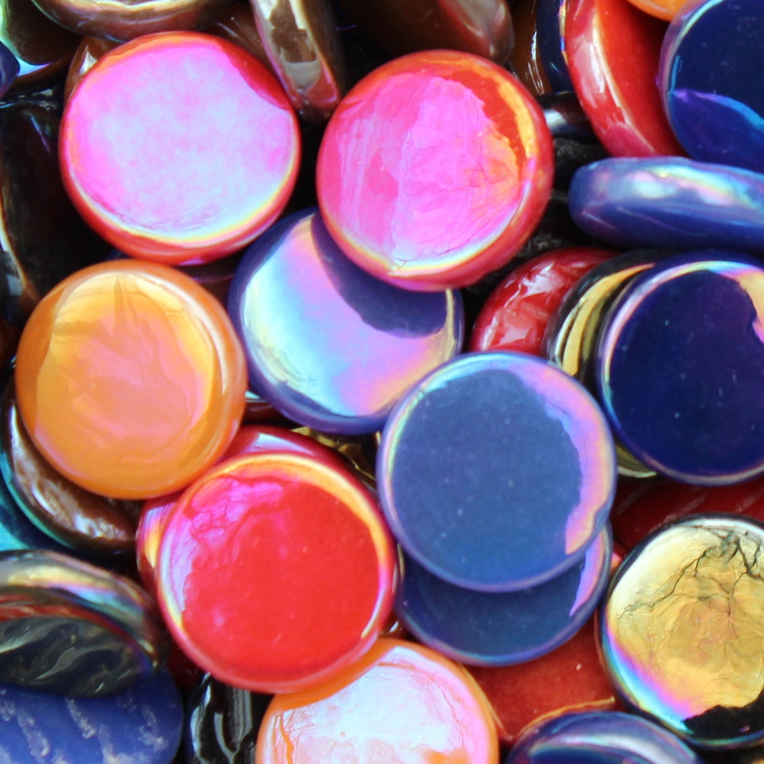 Penny Round - Bold AssortmentPennyRound-Assorted - Kismet Mosaic