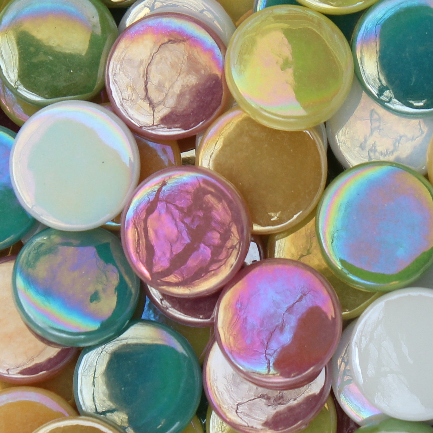 Penny Round - Light AssortmentPennyRound-Assorted - Kismet Mosaic