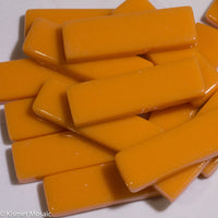 5104-g - Tangerine Rectangles - Glossy, KismetRectangle tile - Kismet Mosaic - mosaic supplies