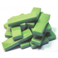 511-i - Lime Green Rectangle - Iridescent, KismetRectangle tile - Kismet Mosaic - mosaic supplies
