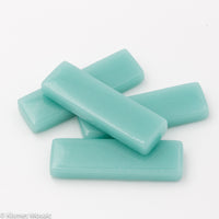 513-g - Light Teal Rectangle - Glossy, KismetRectangle tile - Kismet Mosaic - mosaic supplies