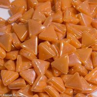 7104-i - Tangerine, TriangleIrid tile - Kismet Mosaic - mosaic supplies
