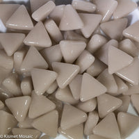 746-g - Taupe Triangle, TriangleGloss tile - Kismet Mosaic - mosaic supplies
