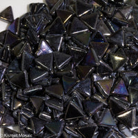 749-i - Carbon Black Triangle, TriangleIrid tile - Kismet Mosaic - mosaic supplies