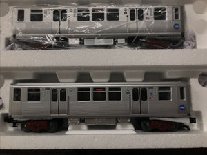 "MTH 30-20576-3 - 3200 Series Subway Set Add-On Set ""Chicago Transit Authority"" (2-Car) Non-Powered"